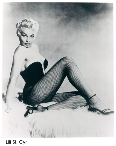 Burlesque star Lili St. Cyr headlined El Rancho Vegas in the 1950s. (Courtesy)
