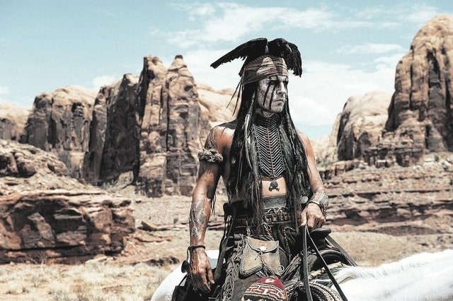 Johnny Depp as Tonto (Courtesy of Peter Mountain) ©Disney Enterprises, Inc. and Jerry Bruckheimer Inc.  All Rights Reserved.