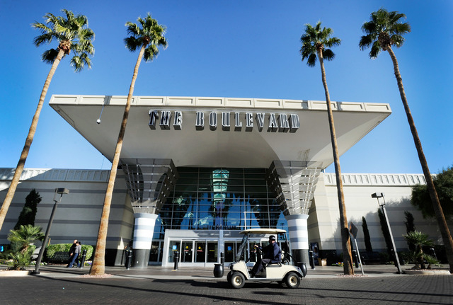 A security vehicle passes by the main entrance at the Boulevard Mall on Monday, Dec. 2, 2013. The shopping center that opened in March 1968, was recently purchased by local buyers, Sansone Compani ...