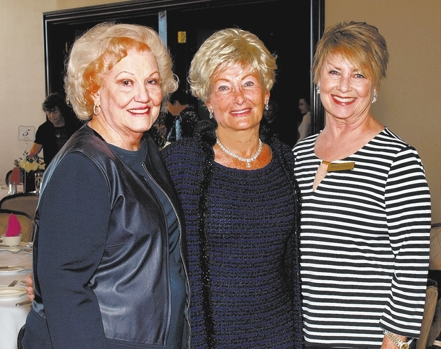 Paula Mendenhall, from left, Betty Ault and Marge Adison (Marian Umhoefer/Review-Journal)