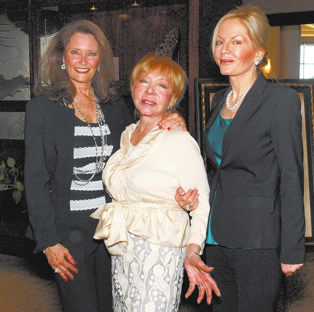Tina Cahlan, from left, Persia Golden and  Linda Baxter (Marian Umhoefer/Review-Journal)