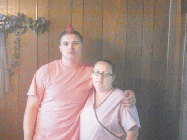 High school student Mike Barker is shown with his mother, Wendy Pawlicki. (Pawlicki family)