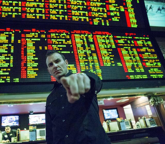 "Steve Stevens, aka Darin Notaro, stars in CNBC's Las Vegas-based ""Money Talks."" (Ron Batzdorff/CNBC)"
