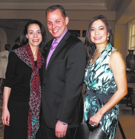 Jennifer Licata, from left, Jason Polisano and Francine Lin