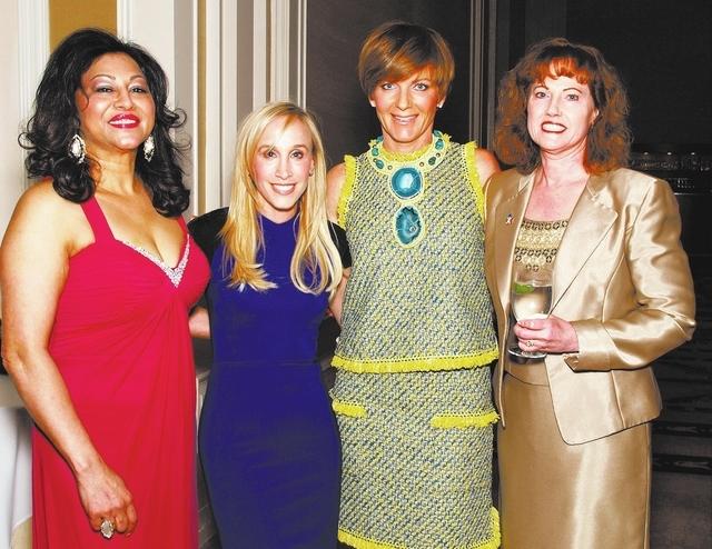 Shanila Choudhury, from left, Ellen Schaner, Susie Lee and Diane Fearon