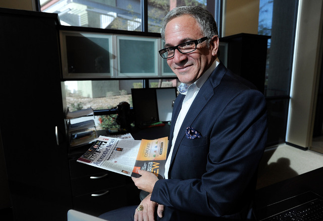 Mitch Cummins, president of Maritz Dealer Soultions /Opportunity Max, a digital consulting and services firm, sits in his Las Vegas office on Tuesday, Feb. 11, 2014.  (David Becker/Las Vegas Revie ...
