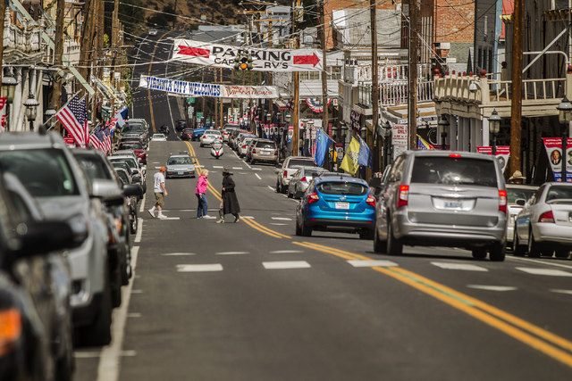C Street as seen Sept. 25 in Virginia City. Virginia City was not so much a metropolis as a mining camp for those who had come to make their fortune digging the Comstock Lode silver mine. At one p ...