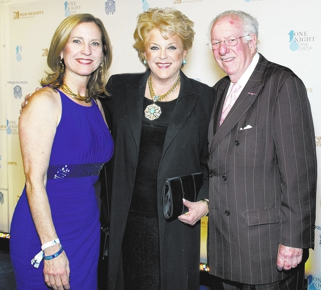 Julie Murray, from left, Mayor Carolyn Goodman and Oscar Goodman