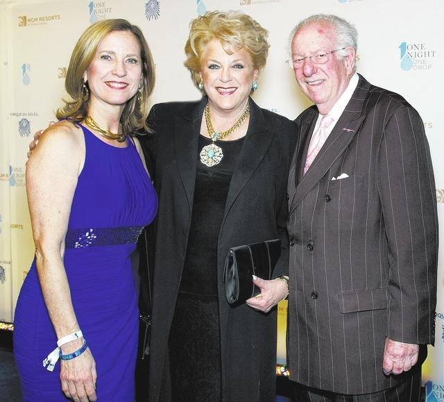 Julie Murray, from left, Mayor Carolyn Goodman and Oscar Goodman