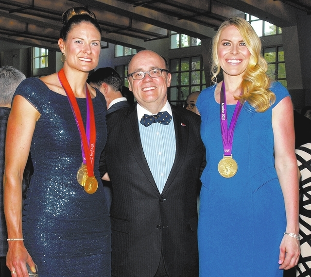 Susan Francia, from left, Michael J. Brown and Esther Lofgren
