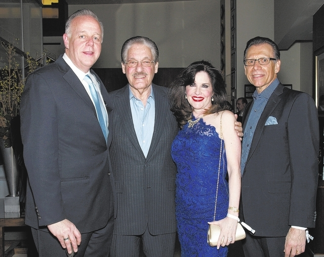 Jerry Nadel, from left, Morgan and Karen Cashman, and Michael Severino