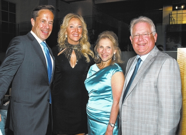 Jeffrey Latimer, from left, Heather Acheson, Shari Redstone and Carl Goldberg