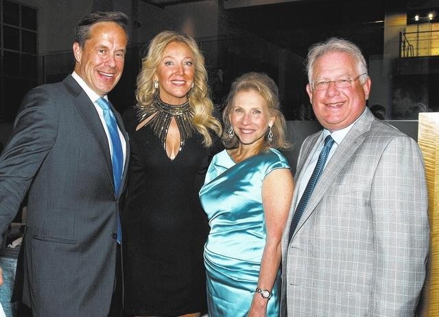 Jeffrey Latimer, from left, Heather Acheson, Shari Redstone and Carl Goldberg