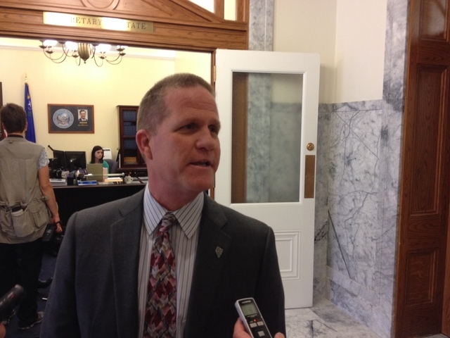 GOP state Sen. Mark Hutchison filed his candidacy for lieutenant governor in Carson City on Monday, one of more than a dozen candidates expected to make their bids official on the formal kickoff t ...