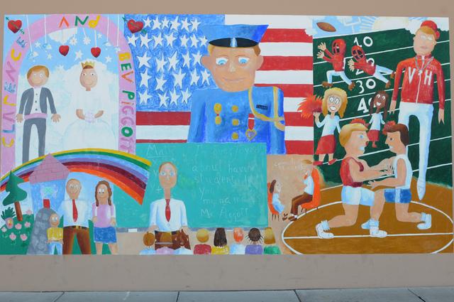 The mural dedicated to Clarence A. Piggott is seen at the entrance of Piggott Elementary School. (Erik Verduzco/View)