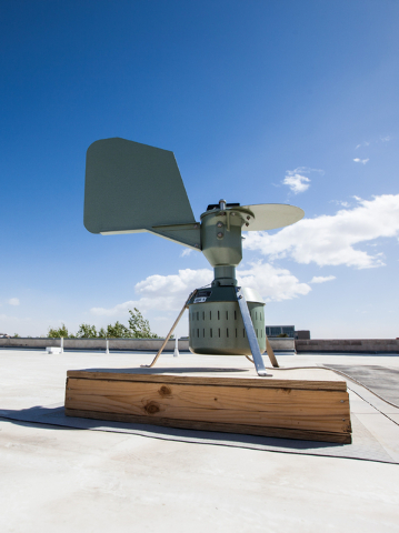 The pollen monitoring machine which collects samples is seen on the roof of the White Life Sciences building on the campus of the University of Nevada, Las Vegas on Wednesday, March 26, 2014. Once ...