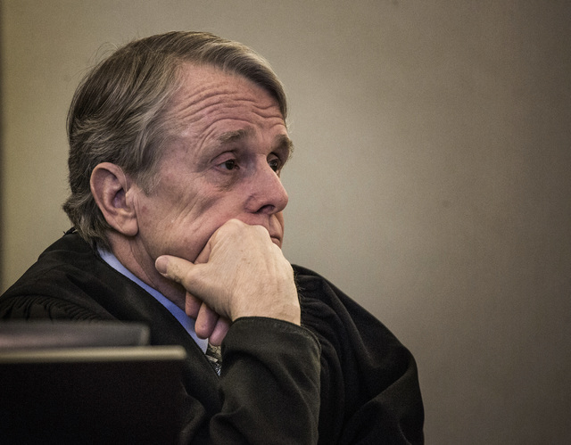 District Court Judge Ken Cory during the puppy restraining order hearing at Regional Justice Center,Wednesday, March 19, 2014. Cory rebuked lawyers for wasting taxpayers dollars on who would have  ...
