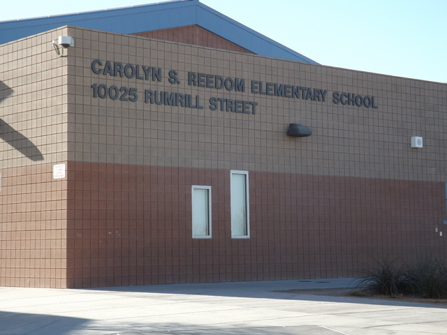 Carolyn S. Reedom Elementary School, 10025 Rumrill St., is named for Dr. Carolyn Reedom, who served the Clark County School District in numerous administrative posts. (Caitlyn Belcher/View)