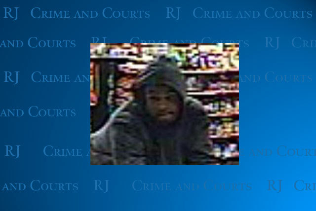 Las Vegas police are looking for this suspect in the robbery of a convenience store near U.S. Highway 95 and Eastern Avenue in early March. (Courtesy/Las Vegas police)