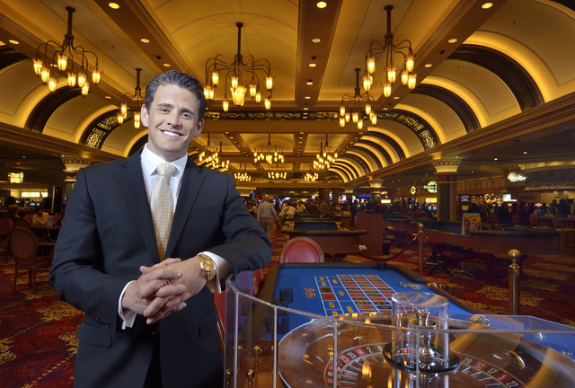 Ryan Growney, general manager of the South Point hotel-casino, is shown in the casino at 9777 Las Vegas Blvd., South, in Las Vegas on Thursday, Feb. 27, 2014. (Bill Hughes/Las Vegas Review-Journal)