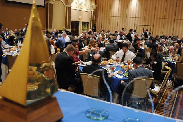 Attendees have lunch during the Nevada Taxpayer Association's 92nd annual luncheon at the Orleans casino-hotel in Las Vegas Tuesday, March 4, 2014. (Erik Verduzco/Las Vegas Review-Journal)