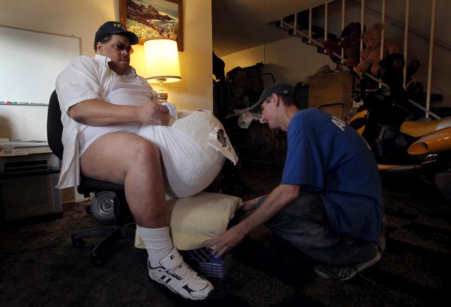 Biggest Scrotum Man