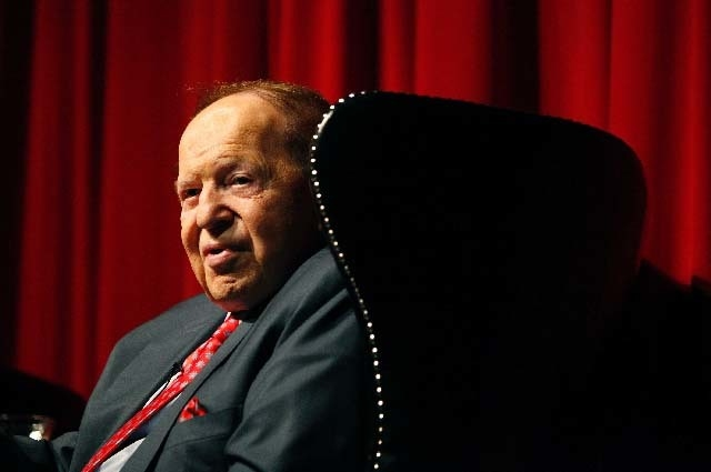 Las Vegas Sands Corp. chairman and CEO Sheldon Adelson ranks no. 8 on Forbes magazine's list of the world's billionaires. (John Locher/Las Vegas Review-Journal file photo)
