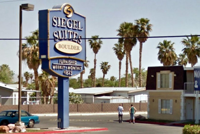 Siegel Suites near Boulder Highway and Nellis Boulevard is pictured. The extended-stay residential company announced Feb. 26 that it spent $4.2 million to buy the 119-unit Solana Square apartments ...