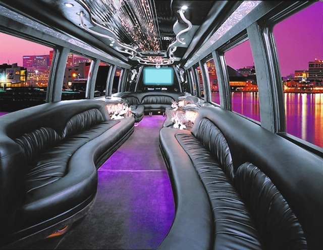 Bus las limousine stripper vegas