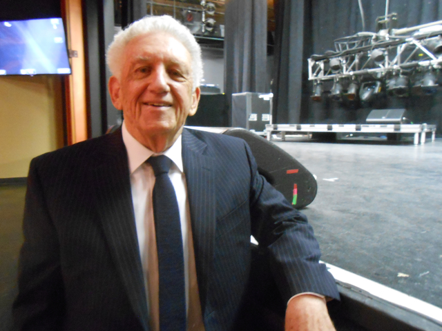 """""""Las Vegas Has Talent!"""" executive producer Ed Mathews pauses by the stage of the Showroom at the Suncoast on Feb. 13 as he talks about the origin of his new show. He is looking for acts of all typ ..."""