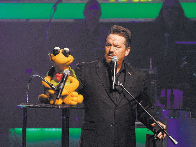 The ventriloquist Terry Fator recently celebrated his fifth anniversary at The Mirage.