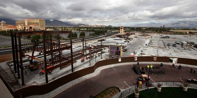 Construction is underway on a new phase of Tivoli Village in Las Vegas Thursday, Oct. 10, 2013.  (Jessica Ebelhar/Las Vegas Review-Journal)