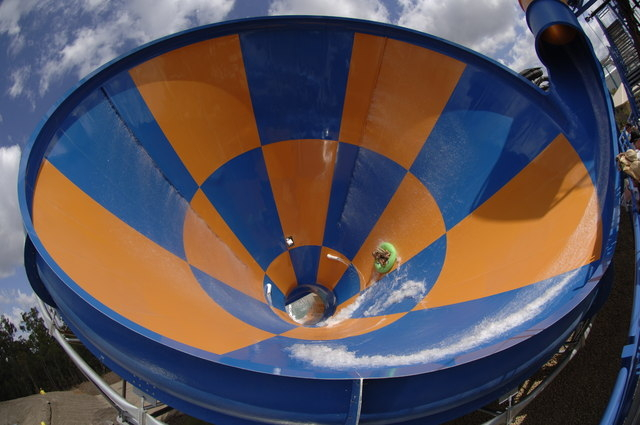 Tornado, a funnel-shaped water slide, is the newest attraction at Wet 'n' Wild, 7055 S. Fort Apache Road. (Special to View)