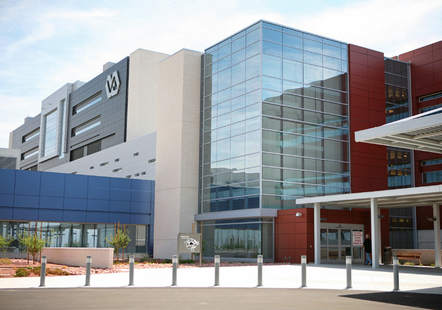 The Veterans Affairs Medical Center, located at 6900 N. Pecos Rd., is shown in a file photo. Despite patient complaints about the facility, Nevada senators are not ready to criticize it. (Ronda Ch ...