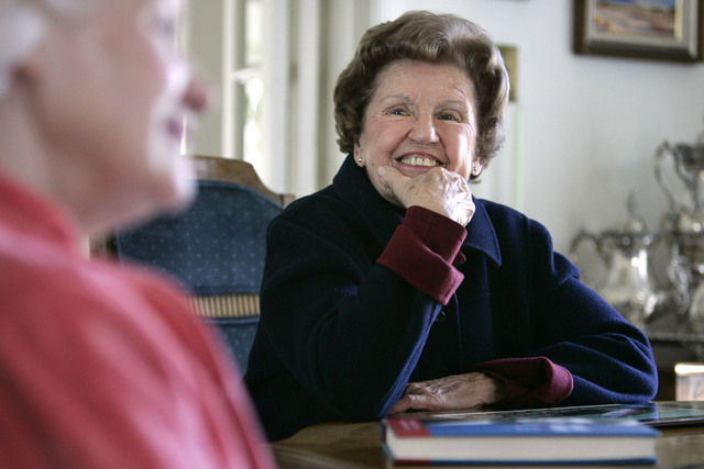 """Barbara Vucanovich and her daughter Patty Cafferata talk from Patty's Reno home in February 2006 about their book, """"Barbara F. Vucanovich: From Nevada to Congress, and Back Again."""" (Cathleen Allis ..."""