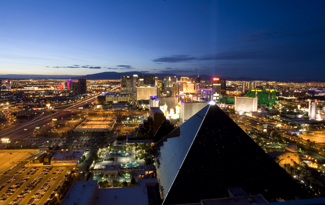 The Las Vegas Strip is the most visited tourist attraction in the world according to a new Love Home Swap list, and has over 39 million annual visitors. (File, Duane Prokop/Las Vegas Review-Journal)