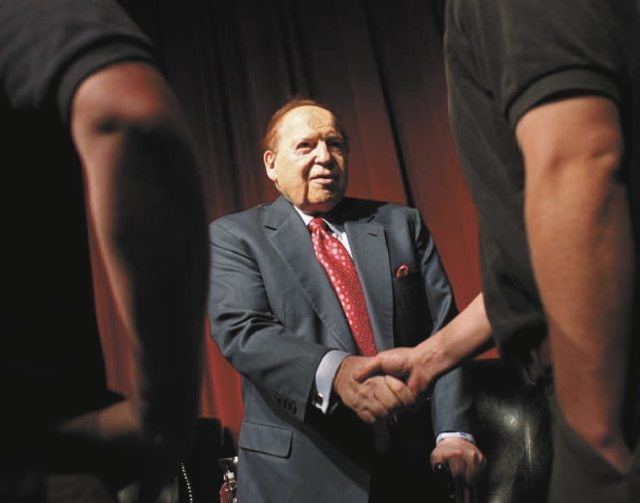 Las Vegas Sands Corp. Chairman Sheldon Adelson is a financial backer of the Coalition to Stop Internet Gambling. (File, Las Vegas Review-Journal)