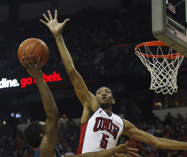 UNLV freshman Chris Wood, shown Nov. 26 against Illinois, is averaging 4.4 points and 3.1 rebounds this season.(Jason Bean /Las Vegas Review-Journal)