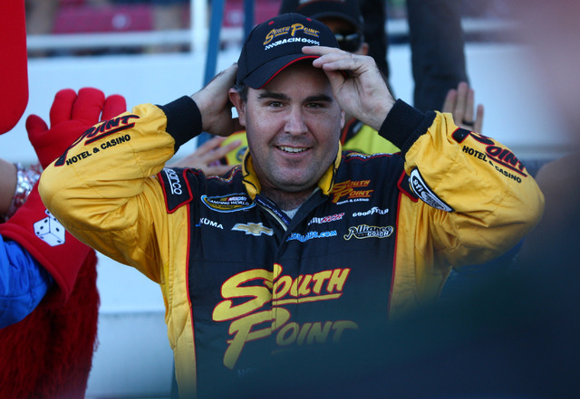 Homegrown Brendan Gaughan, 38, shown heading to his truck before the start of the NASCAR Camping World Truck Series Smith's 350 at Las Vegas Motor Speedway on Sept. 28, is racing in NASCAR's N ...