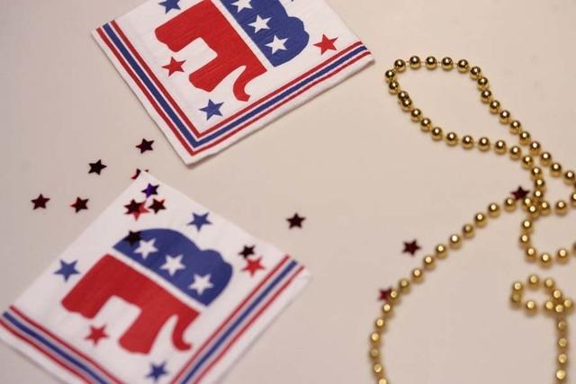 The Republican Party elephant decorates napkins at the 2008 Republican election night party at The Palazzo. (Jessica Ebelhar/Las Vegas Review-Journal file)
