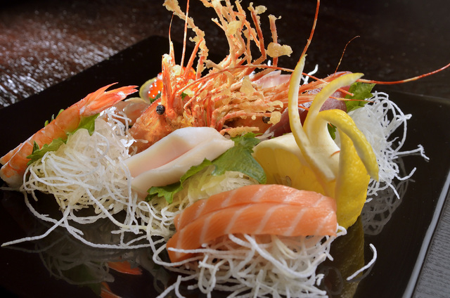 The Sashimi Chef's Special Combo is shown at Blue Fin Sushi at 3980 E. Sunset Road in Las Vegas on Saturday, Feb. 22, 2014. (Bill Hughes/Las Vegas Review-Journal)