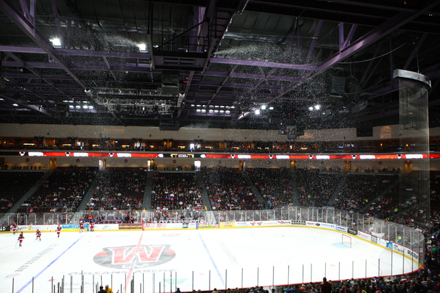 The Orleans Arena is the first building in Nevada to receive LEED Gold certification for existing buildings from the U.S. Green Building Council. (Chase Stevens/Las Vegas Review-Journal)