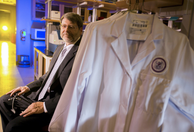 Roseman University of Health Sciences dean Mark Penn, MD, MBA, in lab at Summerlin campus, 10530 Discovery Drive, on Friday, Jan. 31, 2014. Roseman will be starting a medical school in 2017 with 6 ...