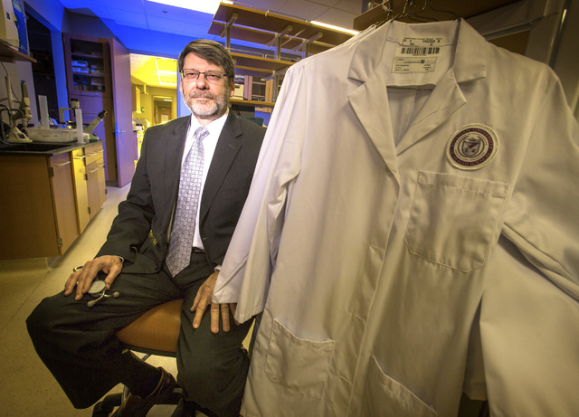 Roseman University of Health Sciences dean Mark Penn, MD, MBA, in lab at Summerlin campus,10530 Discovery Drive, on Friday, Jan. 31, 2014. Roseman will be starting a medical school in 2017 with 60 ...