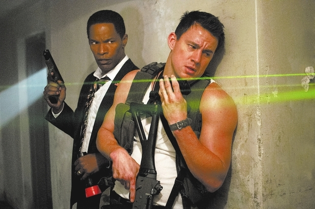 """Jamie Foxx, left, and Channing Tatum star in Columbia Pictures' """"White House Down."""""""