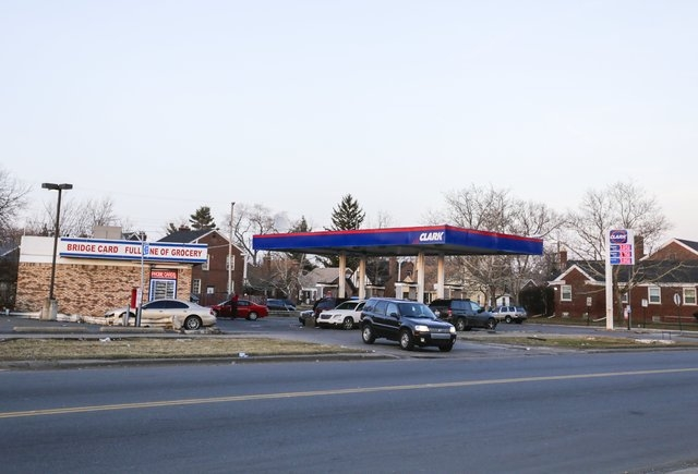 Detroit Police said a motorist is in critical condition after being beaten by a large group of people on the city's east side after his truck struck an 10-year-old boy near this Clark gas station  ...