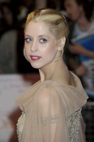 "British personality Peaches Geldof arrives for the European premiere of ""One Day"" on Aug. 23, 2011, at a central London venue. Entertainer Bob Geldof's agent said on Monday his 25-year-old daughte ..."