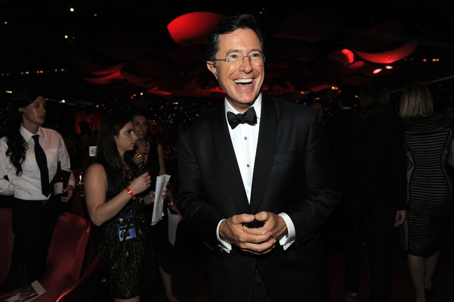 This Sept. 23, 2012 file photo shows TV personality Stephen Colbert at the 64th Primetime Emmy Awards Governors Ball in Los Angeles. CBS announced Thursday Colbert, the host of The Colbert Report, ...