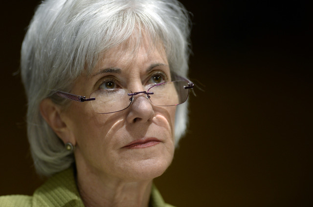 Health and Human Services Secretary Kathleen Sebelius listens on Capitol Hill in Washington on Thursday as she testifies before the Senate Finance Committee hearing on the HHS Department's fiscal  ...