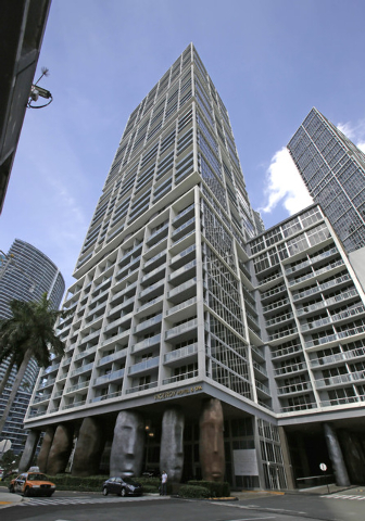 The Viceroy Miami stands in downtown Miami, Thursday, April 10, 2014. Miami police officials said Thursday they are investigating a woman's report that she blacked out after drinking and smoking m ...
